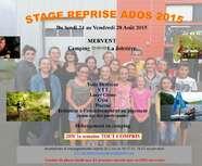 Stage D'été du 24 au 28 Août 2015